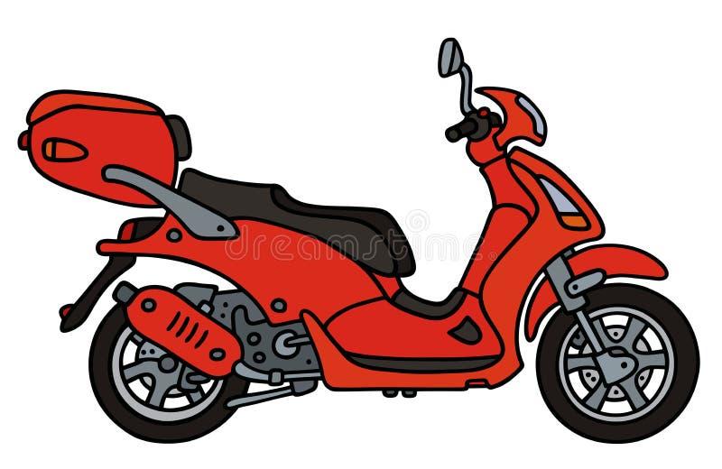 röd sparkcykel stock illustrationer