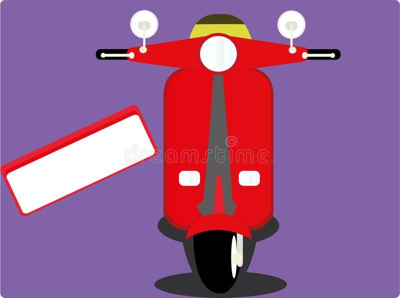 röd sparkcykel vektor illustrationer