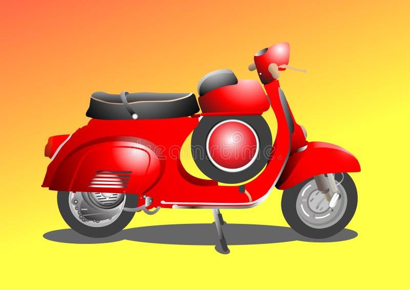 röd sparkcykel arkivbilder