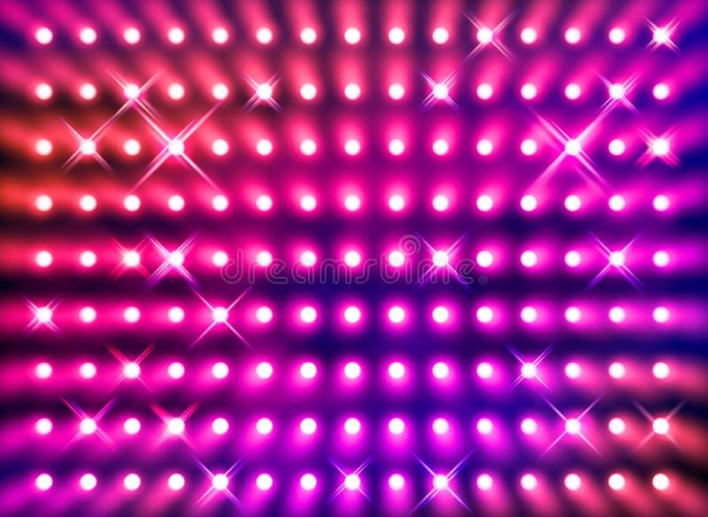 röd sparkling strålkastarevägg royaltyfri illustrationer