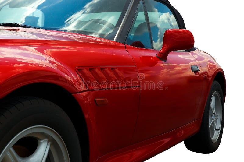 röd speedster arkivbild