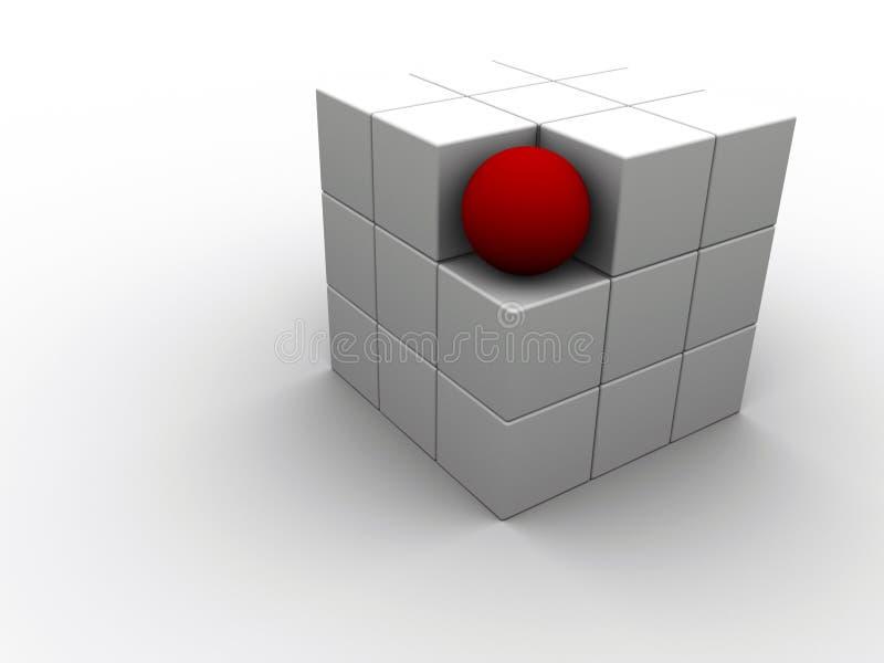 röd sphere stock illustrationer