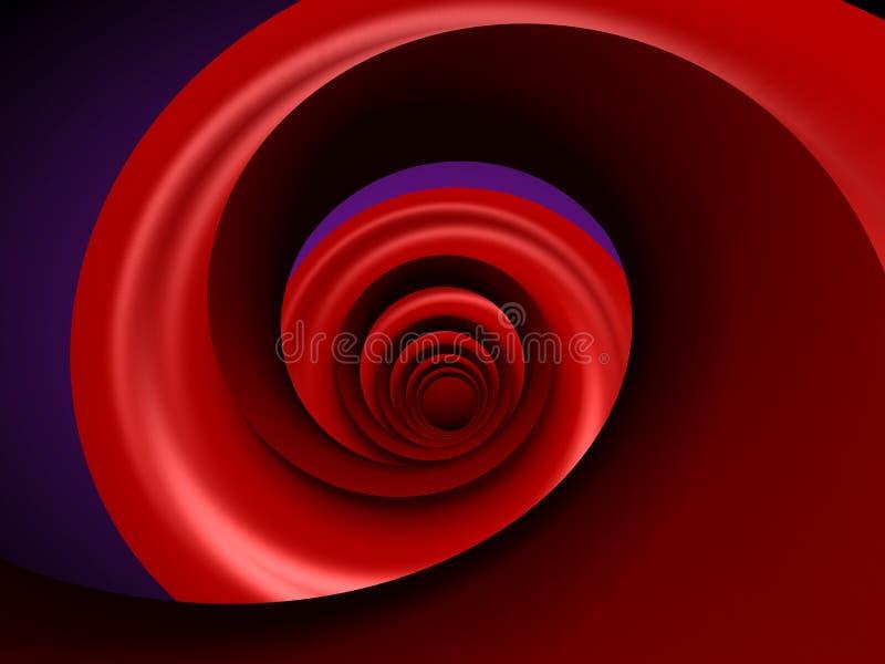 röd spiral royaltyfri illustrationer