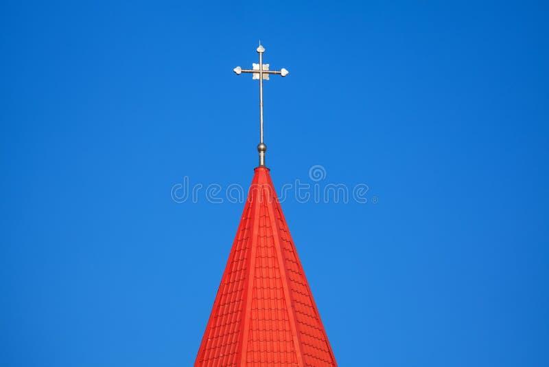 Röd spire royaltyfri bild