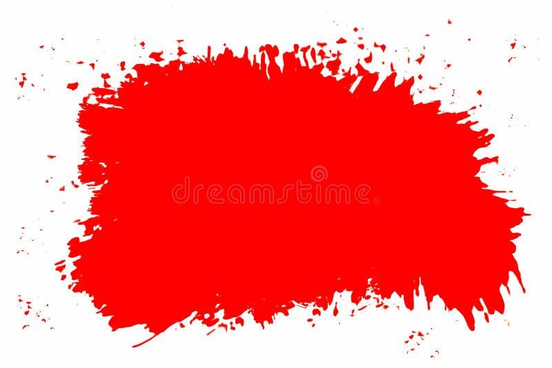 röd splatter stock illustrationer
