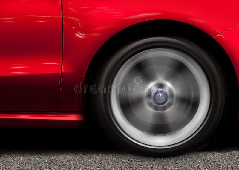 Röd sportbil arkivfoton