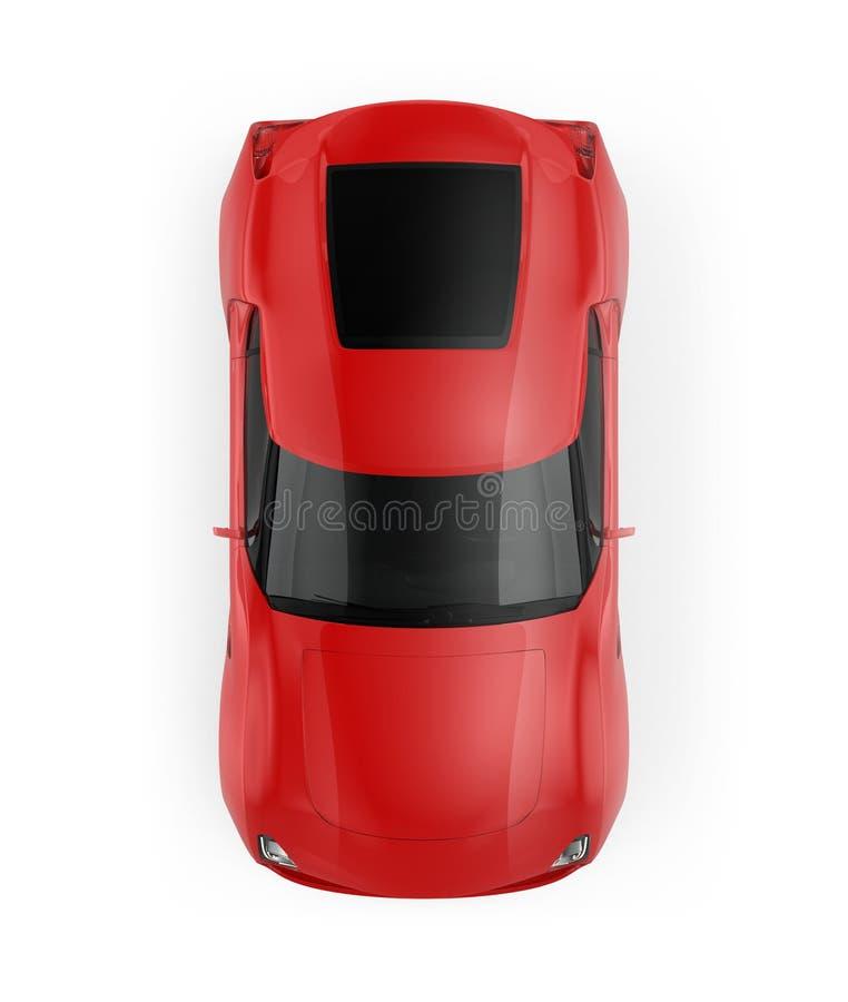 Röd sportbil som isoleras på vit bakgrund vektor illustrationer
