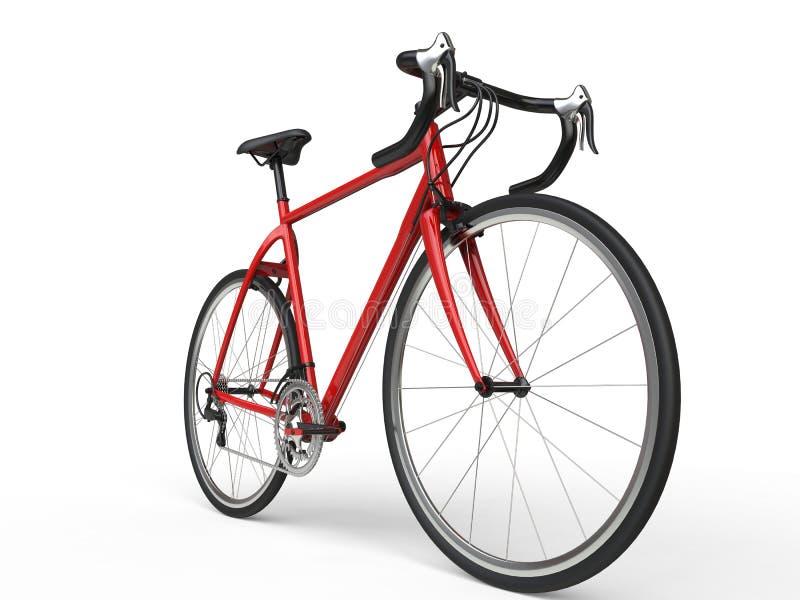 Röd sportcykel för brand - maktskott royaltyfri illustrationer