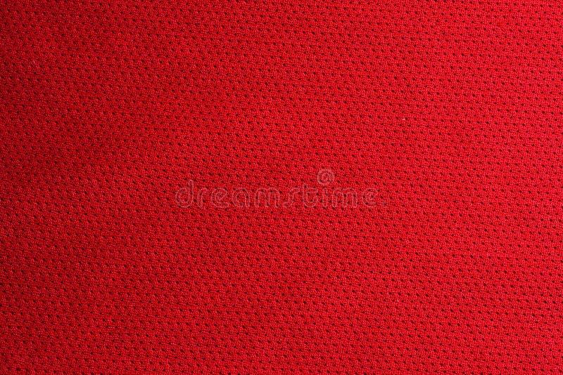 röd sporttextur för tyg fotografering för bildbyråer