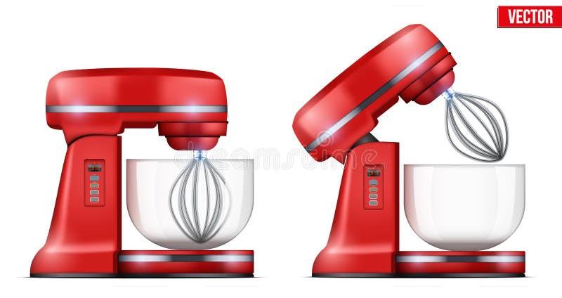 Röd ställningsblandare för vektor stock illustrationer