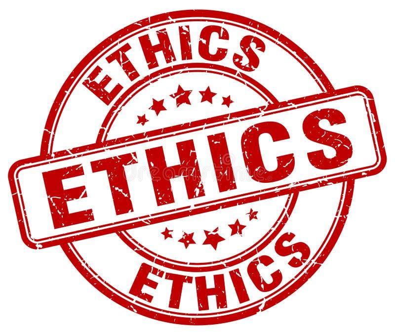 röd stämpel för etik stock illustrationer