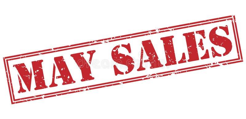 Röd stämpel för Maj försäljningar vektor illustrationer