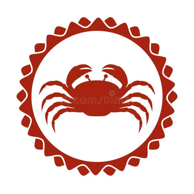 röd stämpelgräns med konturkräftan stock illustrationer