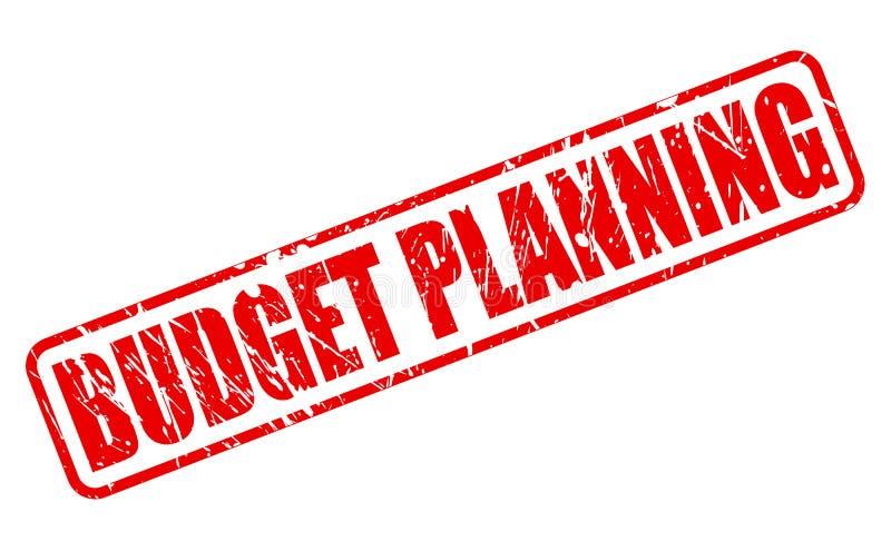Röd stämpeltext för budget- planläggning vektor illustrationer