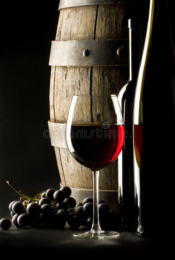 röd still wine för exponeringsglaslivstid royaltyfri foto