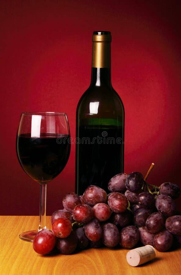 röd still wine för livstid arkivfoto