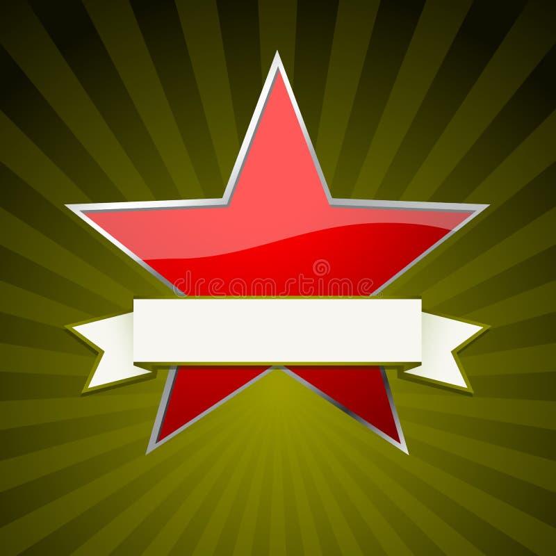 röd stjärna royaltyfri illustrationer