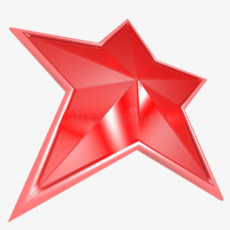 röd stjärna royaltyfri fotografi