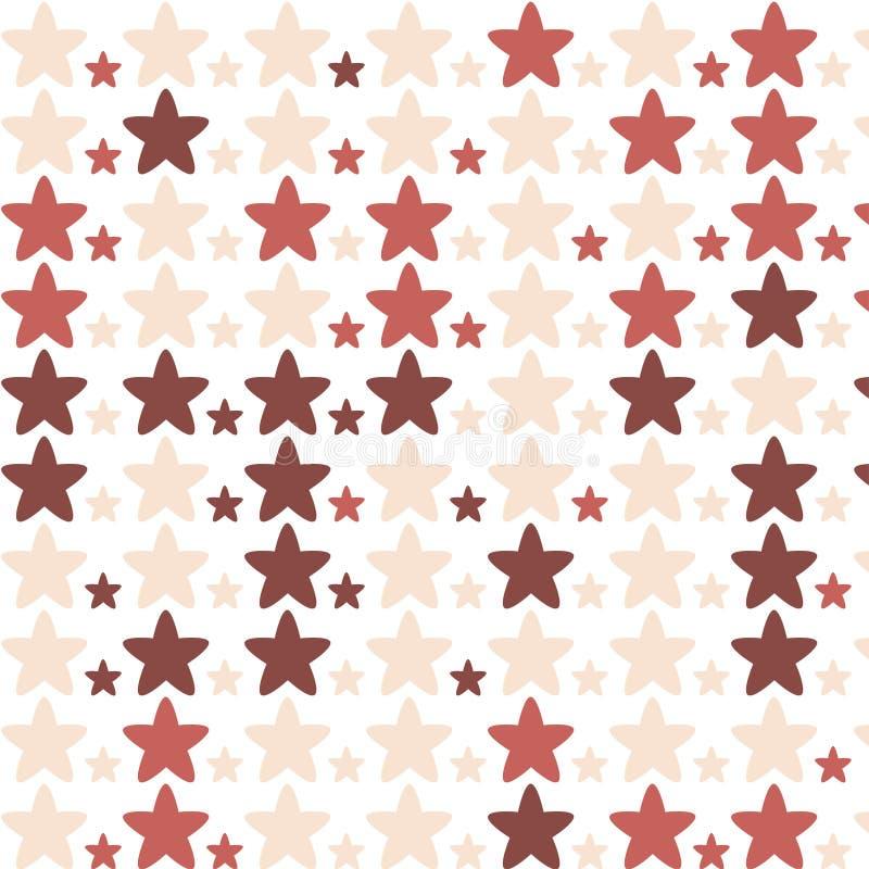 Röd stjärnamodell royaltyfri illustrationer