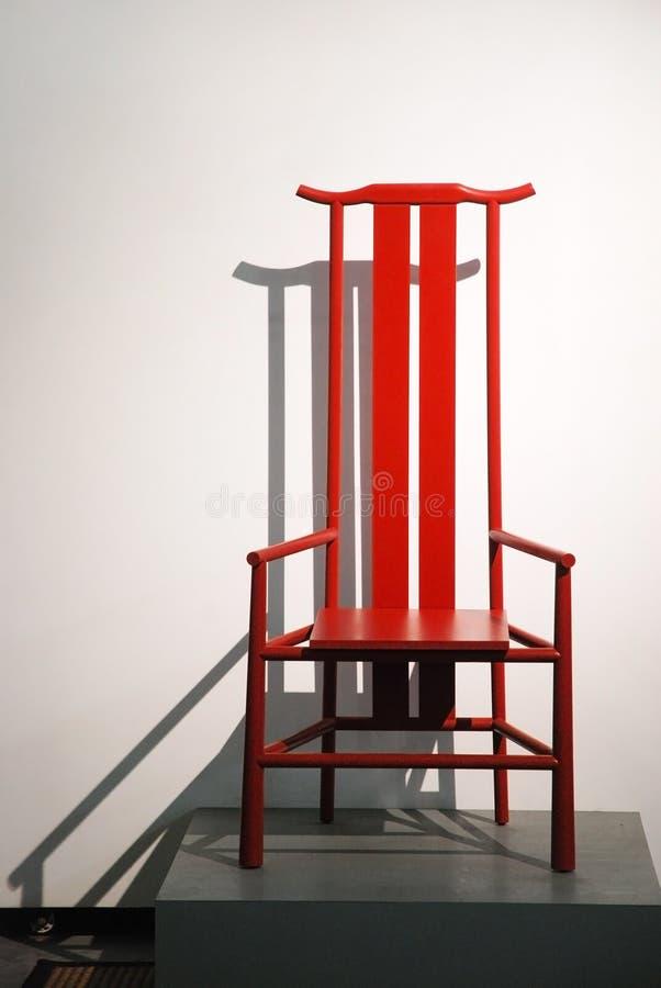 Röd stol arkivbild