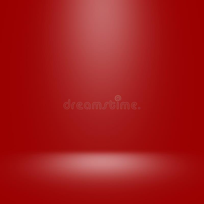 Röd studiobakgrund med strålkastaren royaltyfri fotografi