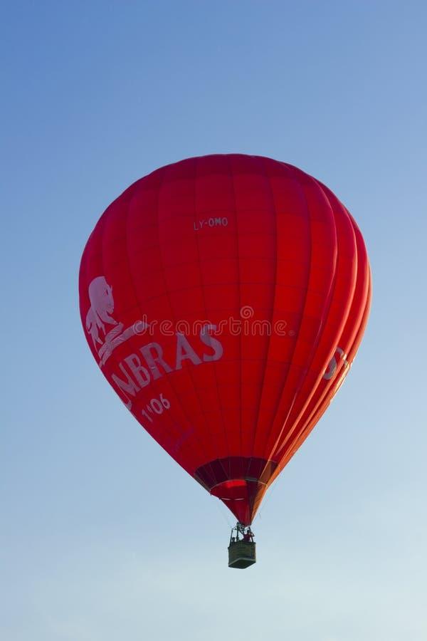Röd Stumbras ballong royaltyfria foton