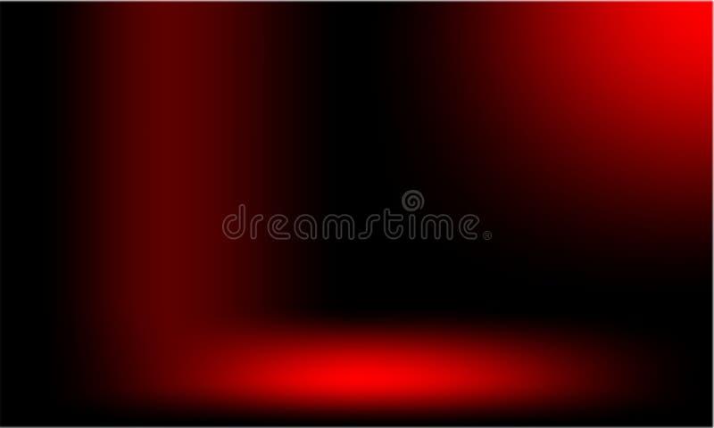 Röd suddig skuggad bakgrundstapet livlig färgvektorillustration Bok som är svart royaltyfri illustrationer