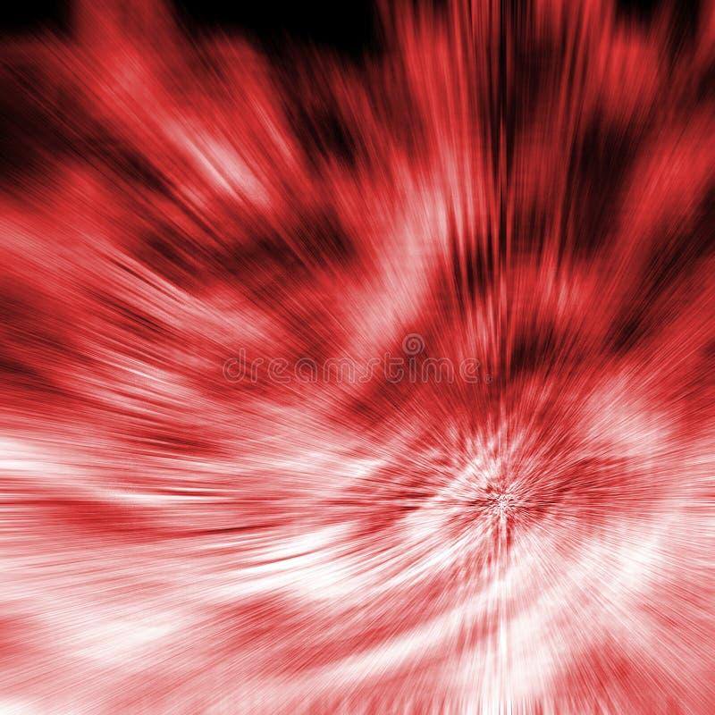 röd swirl stock illustrationer