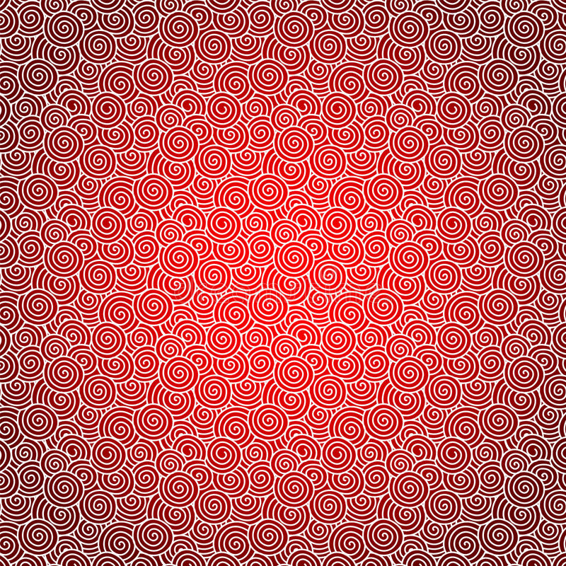röd swirl för bakgrund stock illustrationer