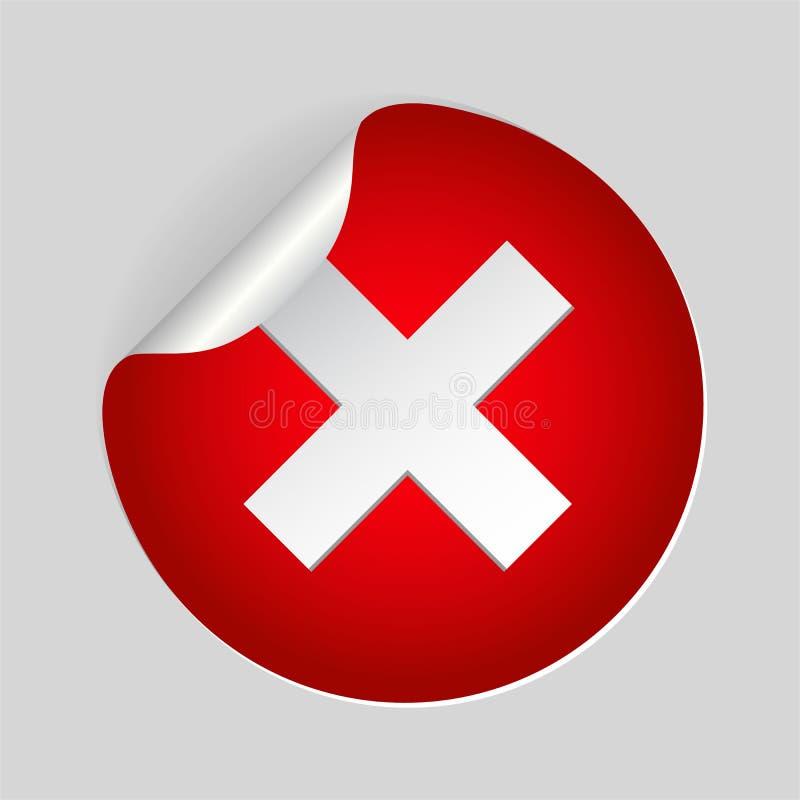 Röd symbol för x-korsfläck Plant symbol för annullering i cirkeln för website eps10 blommar yellow f?r wallpaper f?r vektor f?r k stock illustrationer