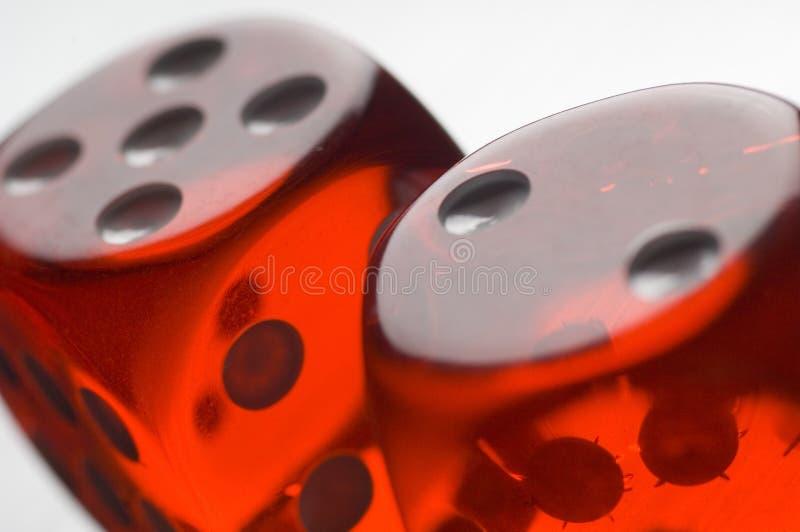 röd tärning fotografering för bildbyråer