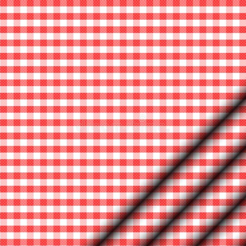 Röd Tablecloth Arkivbild