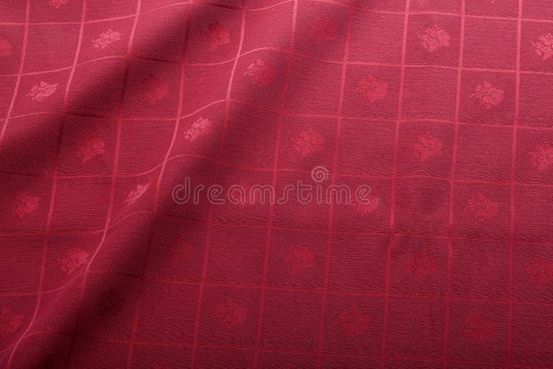 röd tablecloth royaltyfri fotografi