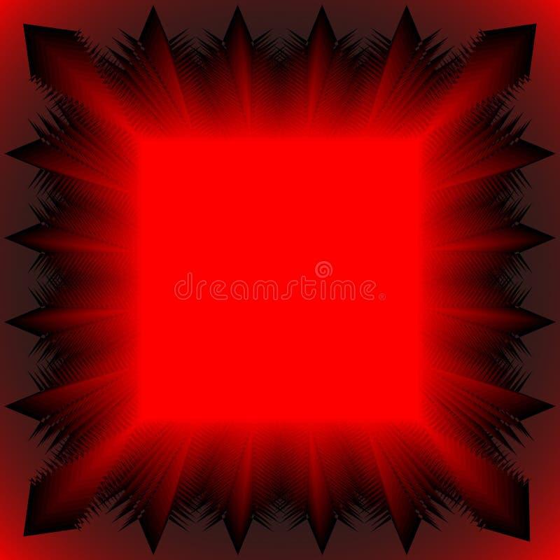 röd tablecloth vektor illustrationer