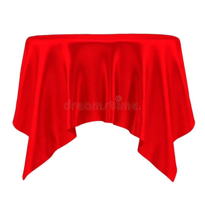 röd tablecloth isolerat stock illustrationer