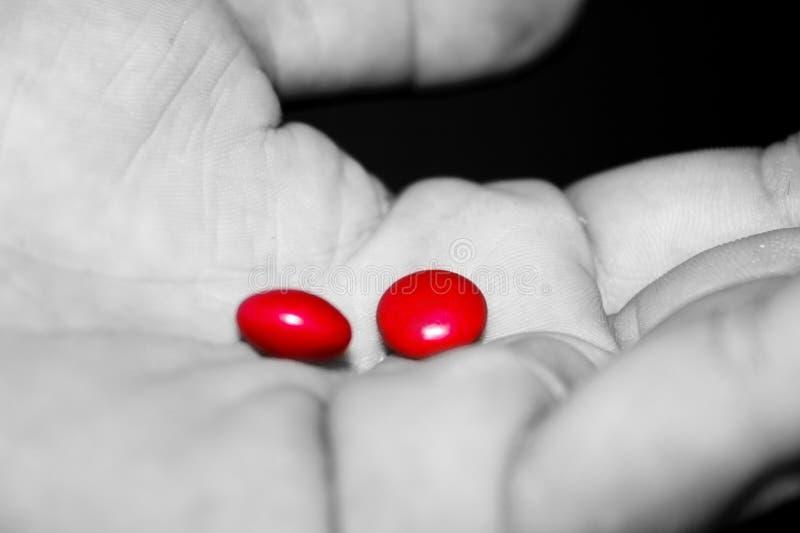 Röd Take För Pill Royaltyfria Bilder