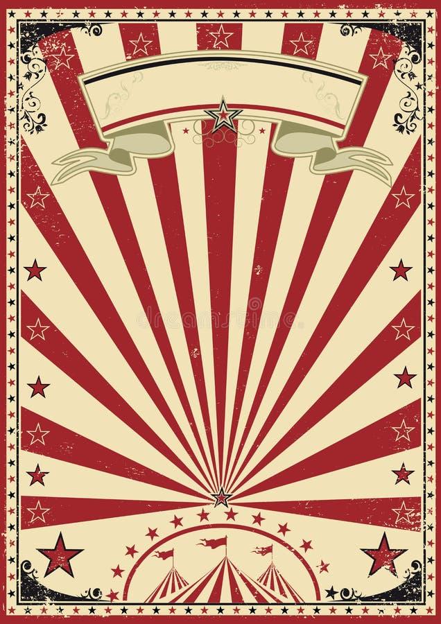 Röd tappning för cirkus royaltyfri illustrationer