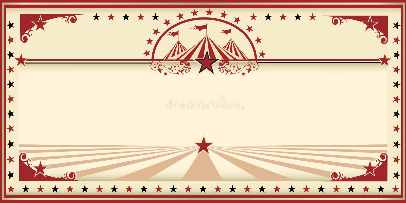 Röd tappning för cirkuskort royaltyfri illustrationer