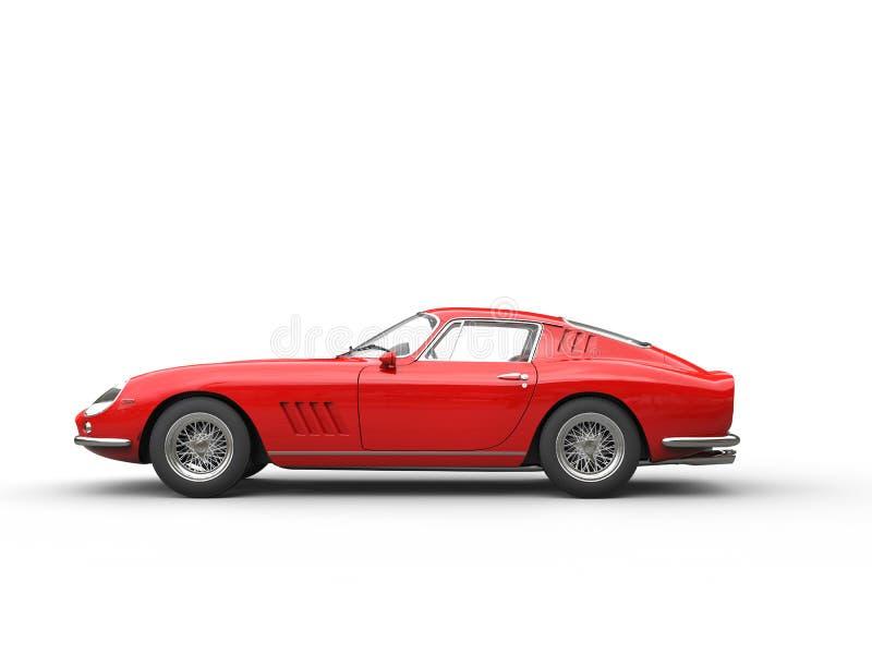 Röd tappningsportbil - sidosikt vektor illustrationer