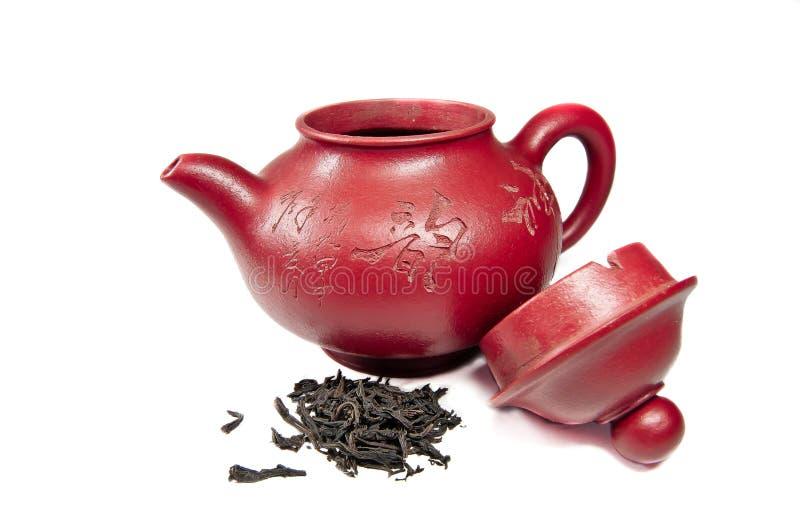 röd teapot arkivfoton