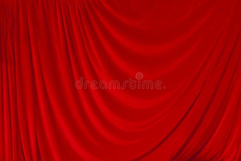 röd teatersammet för courtain royaltyfri bild