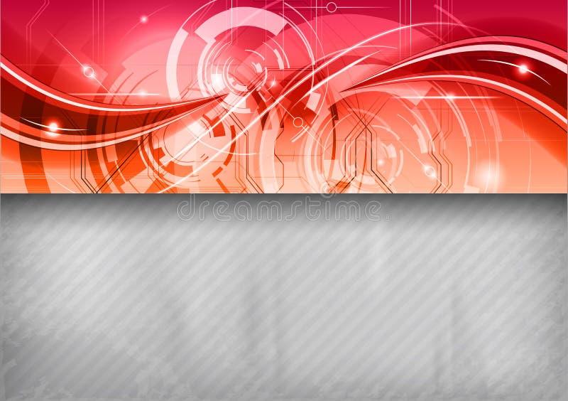 Röd tech vektor illustrationer