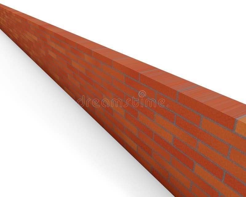 Röd tegelstenvägg royaltyfri illustrationer