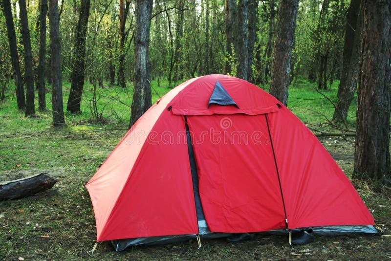 röd tent royaltyfri fotografi