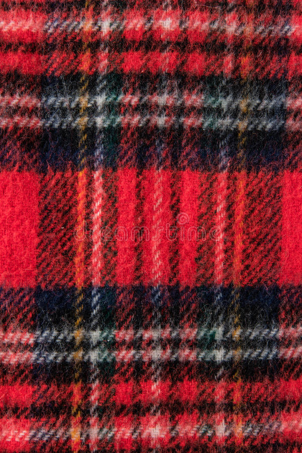 Röd textur för bakgrund för halsdukflanelltyg arkivbild