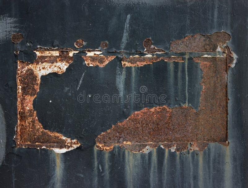 Röd texturerad bakgrund för rost Grunge arkivbild