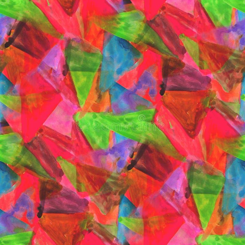 Röd texturerad sömlös prydnad för palettbild, stock illustrationer