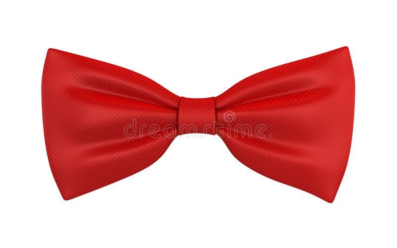 röd tie för bow vektor illustrationer