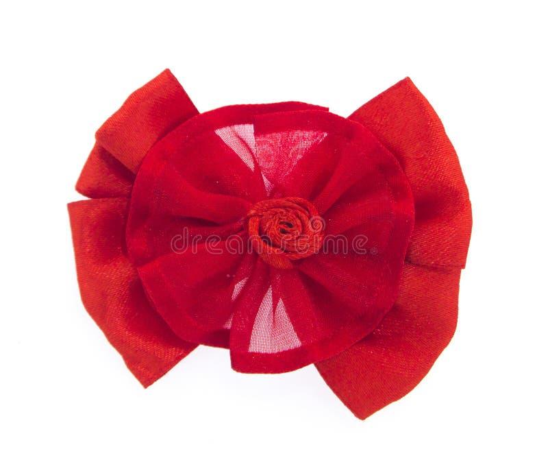 röd tie för bow arkivbild