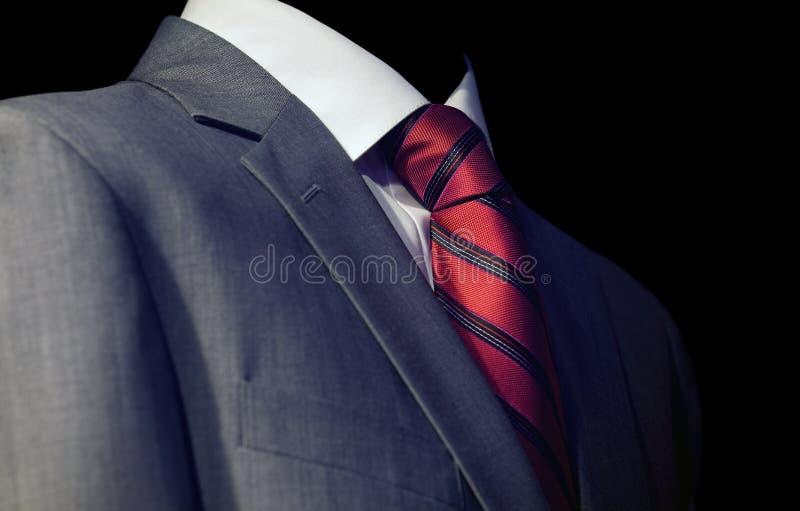 röd tie för grabb royaltyfria bilder